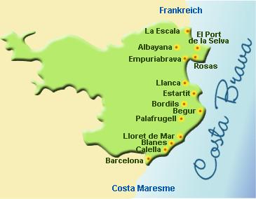 Costa Brava Costa Dorada Karte.Die Schonsten Strande Der Costa Brava Strand Buchten