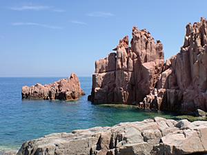 rote Felsen von Arbatax, Sardinien